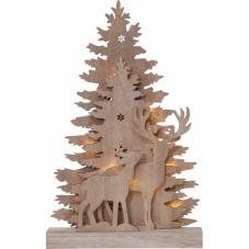 Светильник рождественский FAUNA, 44 см, серо-коричневый