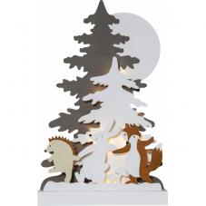 Светильник рождественский FOREST FRIENDS, 44 см, на батарейках, разноцветный