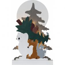 Светильник рождественский FOREST FRIENDS, 45 см, на батарейках, разноцветный