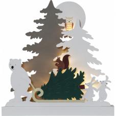 Светильник рождественский FOREST FRIENDS, 38 см, на батарейках, разноцветный