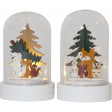 Комплект светильников рождественских FOREST FRIENDS, 9 см, 2 шт., на батарейках, разноцветный