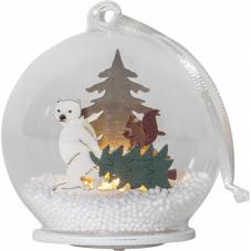 Светильник рождественский FOREST FRIENDS, 9 см, белый