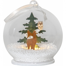 Светильник рождественский FOREST FRIENDS, 9 см, разноцветный