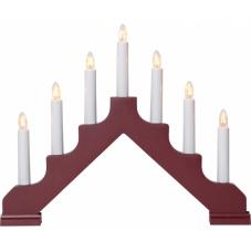 Горка рождественская ADA, 7 свечей, 30 см, красный