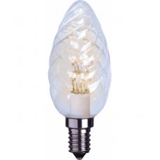 Лампа DECOLINE  универсальная, патрон Е14 LED, высота 100 мм, диаметр 35 мм, прозрачный,теплый белый