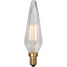 Лампа DECO LED Е14 LED, высота 125 мм, диаметр 38 мм,  прозрачный, теплый белый