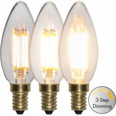 Лампа CLEAR FILAMENT,  4 W (Ватта), Е14 LED, 98 мм, теплый белый, 3-х шаговое диммирование