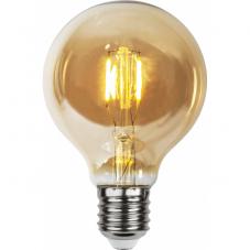 Лампа LOW VOLTAGE  Е27 LED, 120 мм, комплект 4 штуки, янтарный, теплый белый