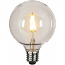 Лампа OUTDOR LIGHTING  Е27 LED, 138 мм, поликарбонатный плафон, прозрачный, теплый белый