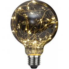 Лампа DECOLED,  Е27 LED, высота 138 мм, диаметр 95 мм, прозрачный, дымчатый, теплый белый