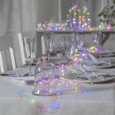 Гирлянда  DEW DROP, 100 LED ламп, 10 м, теплый белый и разноцветный