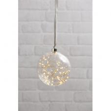 Светильник подвесной шар GLOW, диаметр 15 см, прозрачный, теплый белый