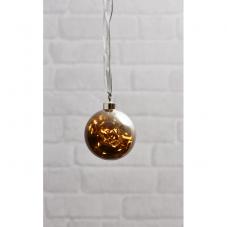Светильник подвесной шар GLOW на батарейках, диаметр 11 см, дымчатый, теплый белый