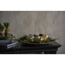 Светильник декоративный светодиодный LED TRISS, на батарейках, длина 77 см, теплый белый, серый