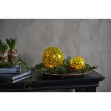 Светильник декоративный светодиодный STAR FALL, на батарейках, диаметр 9см, теплый белый, золотой