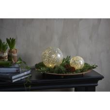 Светильник декоративный светодиодный STAR FALL, на батарейках, диаметр 13см, теплый белый,серебряный