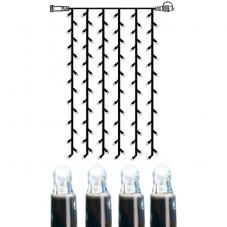 Гирлянда занавес-расширение, 1х2 м, холодный белый, черный провод, серия SYSTEM LED