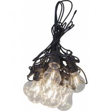 Гирлянда для улицы CIRCUS FILAMENT, 10 ламп, длина 4,05 м, теплый белый, черный провод
