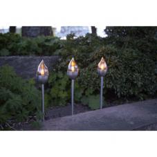 Садовые светильники OLYMPUS на солнечных батареях Solar energy, 3 штуки, ширина 6 см, высота 40 см