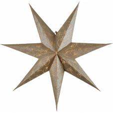 Звезда-подвес DECORUS без провода, 63 см, золотой
