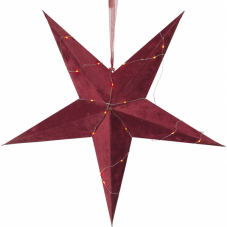 Звезда-подвес бархатная VELVET, 60 см, красный