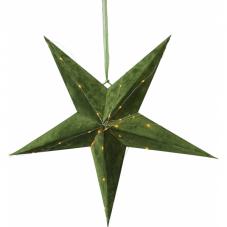 Звезда-подвес бархатная VELVET, 60 см, зеленый