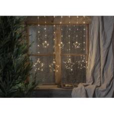 Гирлянда - занавес CURTAIN DEW DROP со звездами, 84 LED ламп, 120 см, дневной белый