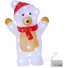 Светильник рождественский CRYSTALINE Медвежонок на батарейках, высота 30 см, ширина 20 см