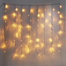 Гирлянда - занавес для улицы, 80 ламп, 1,3 м х 1,3 м, золотистый теплый белый, серия SERIE LED