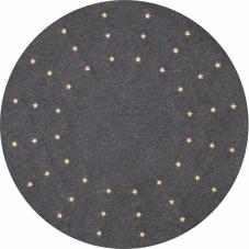 Коврик под елку, диаметр 80 см, 48 светодиодных звезд, серый