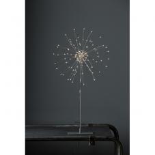 Светильник FIREWORK, диаметр 26 см, высота 50 см, теплый  белый, серебряный