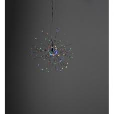 Светильник-подвес FIREWORK, диаметр 26 см, разноцветный, черный провод