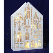 Светильник-домик ОКНА, 30 см, белый