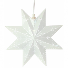 Звезда-подвес CLASSIC, 28 см, белый