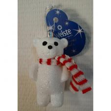 Медвежонок с красным шарфиком 10 см.