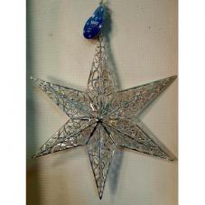 Звезда  серебряная, 36 см.