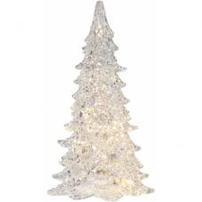Светильник рождественский ICE, на батарейках, высота 34 см, ширина 19 см, прозрачный, теплый белый