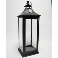 Фонарь - подсвечник, 72,5 см,  металл, стекло, коричневый