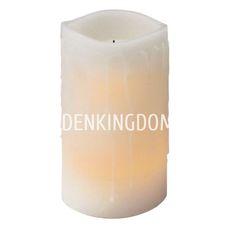 Свеча с эффектом оплавленной свечи, 15 см, таймер, белый воск