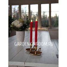 """Свечи 2 шт., 24 см, включение/отключение нажатием на """"пламя"""", красный"""