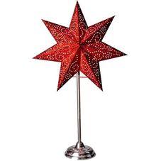 Звезда на подставке ANTIQUE, 55 см, красный