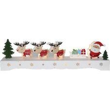 Светильник рождественский RUDOLF, 11 см, разноцветный