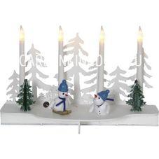 Светильник рождественский SNOWY, 19 см, разноцветный