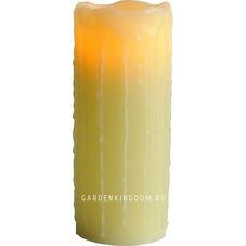 Свеча с эффектом оплавленной свечи, 20 см, желтый воск