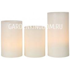 Комплект свечей, 3 шт., белый воск