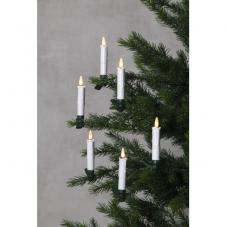 """Комплект свечей на прищепках с пультом с """"3D пламенем"""", 10 см, 10 шт., пластик"""