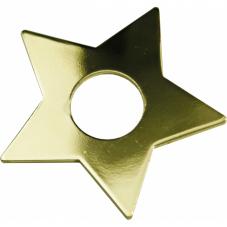 Украшение для горок рождественских ЗВЕЗДОЧКА, 7 шт, золотой