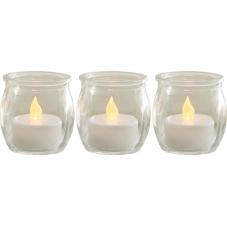 Комплект свечей в стеклянных баночках 3 шт., 5,5 см