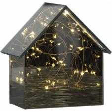 Светильник декоративный MIRROR HOUSE светодиодный LED на батарейках, 14,5 см