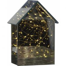 Светильник декоративный MIRROR HOUSE светодиодный LED на батарейках, 20 см